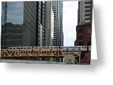 The L In Chicago Greeting Card