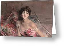 The Lady In Pink Greeting Card