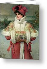 The Lady Of The Snows Greeting Card