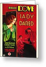 The Lady Who Dared 1931 Greeting Card
