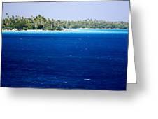 The Lagoon At Rangiroa Atoll Greeting Card by Tim Laman