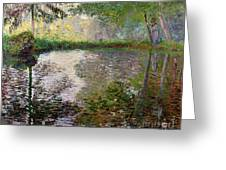 The Lake At Montgeron Greeting Card