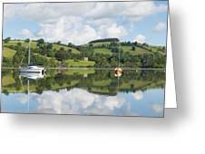 The Lake District Popular Beautiful Uk Holiday Destination Ullswater Cumbria North England Greeting Card