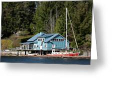 The Lake House - Digital Oil Greeting Card