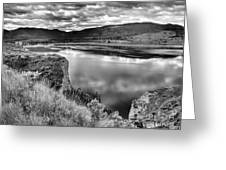 The Lake In Black And White Greeting Card