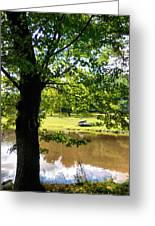 The Lake In The Park Greeting Card