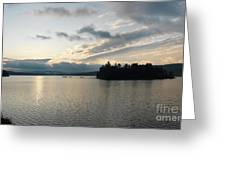The Lake Of Two Rivers At Dawn Greeting Card