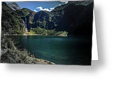 The Lake On A Mountain Greeting Card