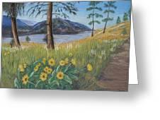 The Lake Trail Greeting Card