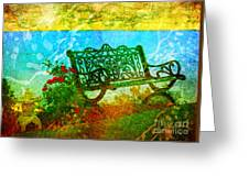 The Lakeview Bench Greeting Card