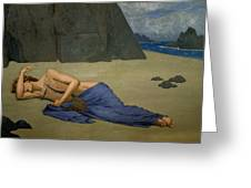 The Lamentation Of Orpheus Greeting Card