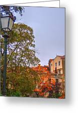 The Lamppost In Oil Greeting Card