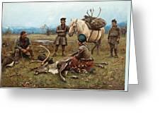 The Laplander Camp At Gleen Greeting Card
