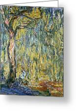 The Large Willow At Giverny Greeting Card