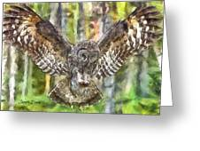 The Largest Owl Greeting Card
