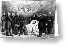 The Last Moments Of President Lincoln Greeting Card by Photo Researchers