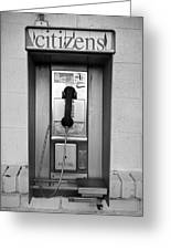 The Last Pay Phone Greeting Card