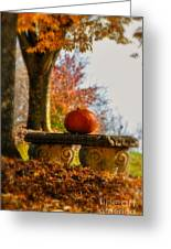 The Last Pumpkin Greeting Card