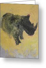 The Last Rhino Greeting Card