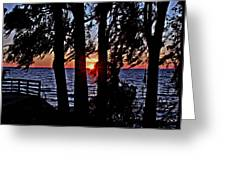 The Last Sun Greeting Card