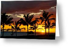 The Last Sunset Greeting Card by James Walsh