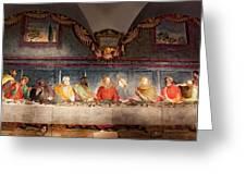 The Last Supper. Fresco In Church Santa Maria Del Carmine, Florence  Greeting Card