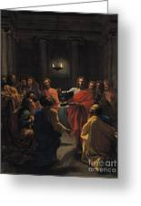 The Last Supper Greeting Card by Nicolas Poussin