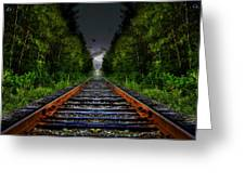 The Last Train Ride Greeting Card