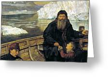 The Last Voyage Of Henry Hudson Greeting Card