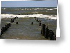 The Last Wooden Pier Greeting Card