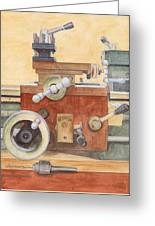 The Lathe Greeting Card