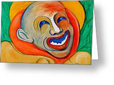 The Laugh Of A Clown Greeting Card