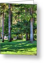 The Lawn At Hill's Resort Greeting Card