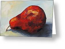 The Lazy Red Pear II Greeting Card