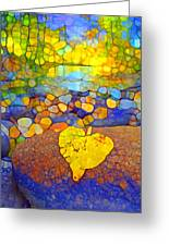 The Leaf At The Creek Greeting Card