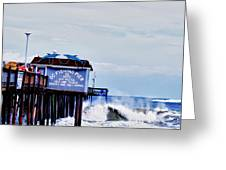 The Leaning Pier Greeting Card