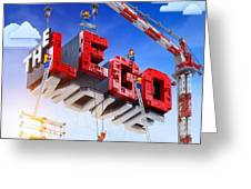 The Lego Movie Greeting Card