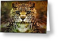 The Leopard Of The Temple  Greeting Card