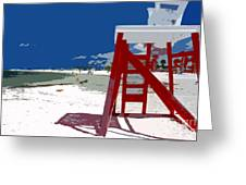 The Lifeguard Stand Greeting Card