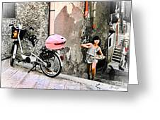 The Life.vieste.italy Greeting Card