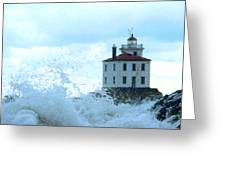 The Light At Fairport Harbor Greeting Card