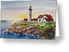 The Light At Portland Head Greeting Card