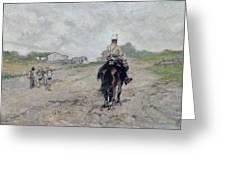 The Light Cavalryman Greeting Card