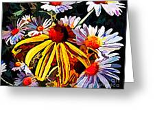 The Light Within The Flowers Greeting Card