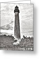 The Lighthouse At Cape May Greeting Card