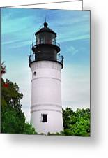 The Lighthouse At Key West Florida Greeting Card