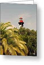 The Lighthouse In Saint Augusrtine Fl Greeting Card