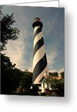 The Lighthouse In St.augustin Fl Greeting Card