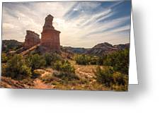 The Lighthouse - Palo Duro Canyon Texas Greeting Card