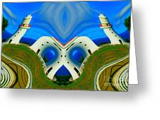 The Lighthouse Racetrack Greeting Card